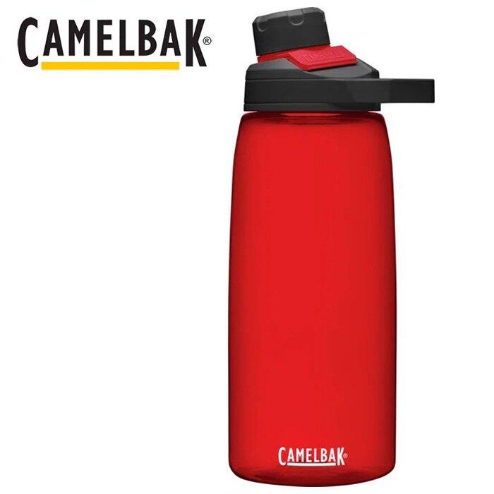 【Camelbak 美國】Chute Mag Renew 戶外運動水瓶 1000ml 石榴紅 (CB2469601001)