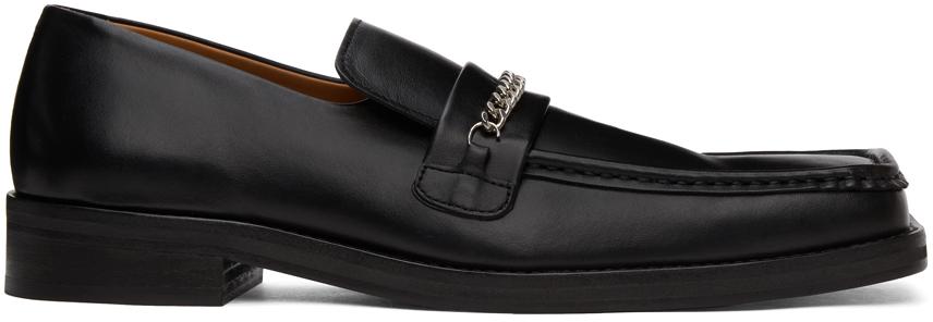 Martine Rose 黑色方头乐福鞋