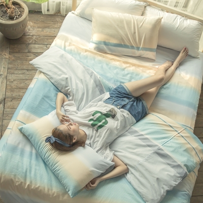 BUHO 舒涼TENCEL天絲單人床包+單人兩用被套三件組(多款任選-A)