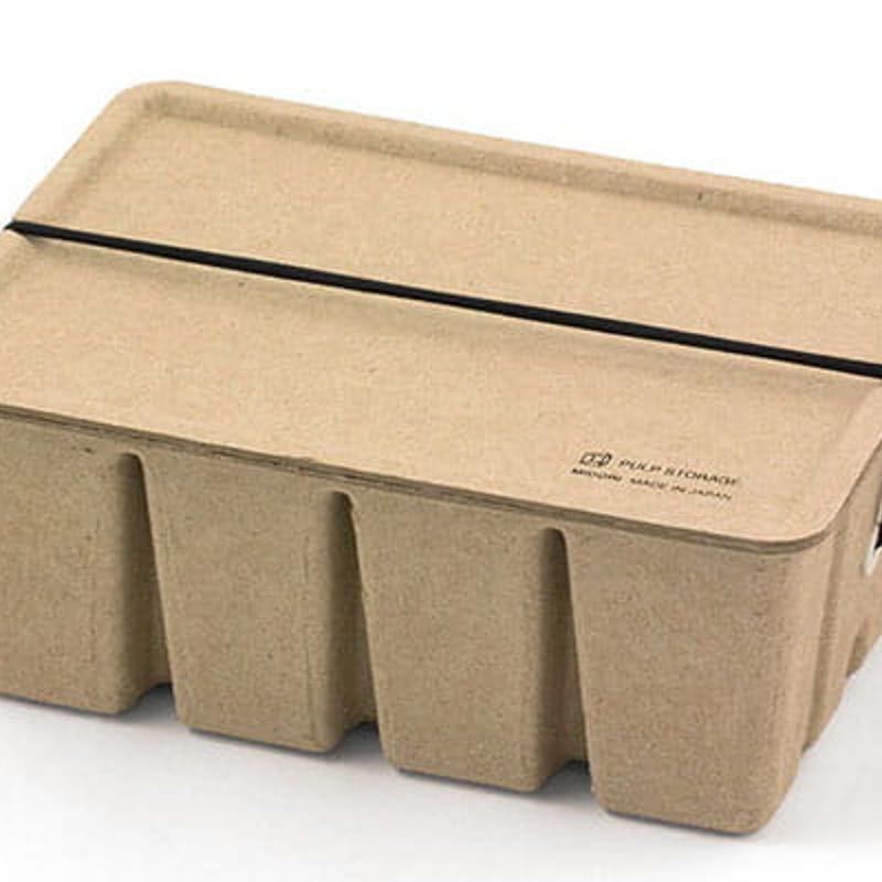 【Midori】環保素材紙漿收納盒(米色)