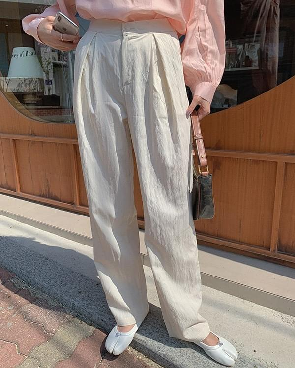 韓國空運 - Reborn pintuck wide slacks 長褲
