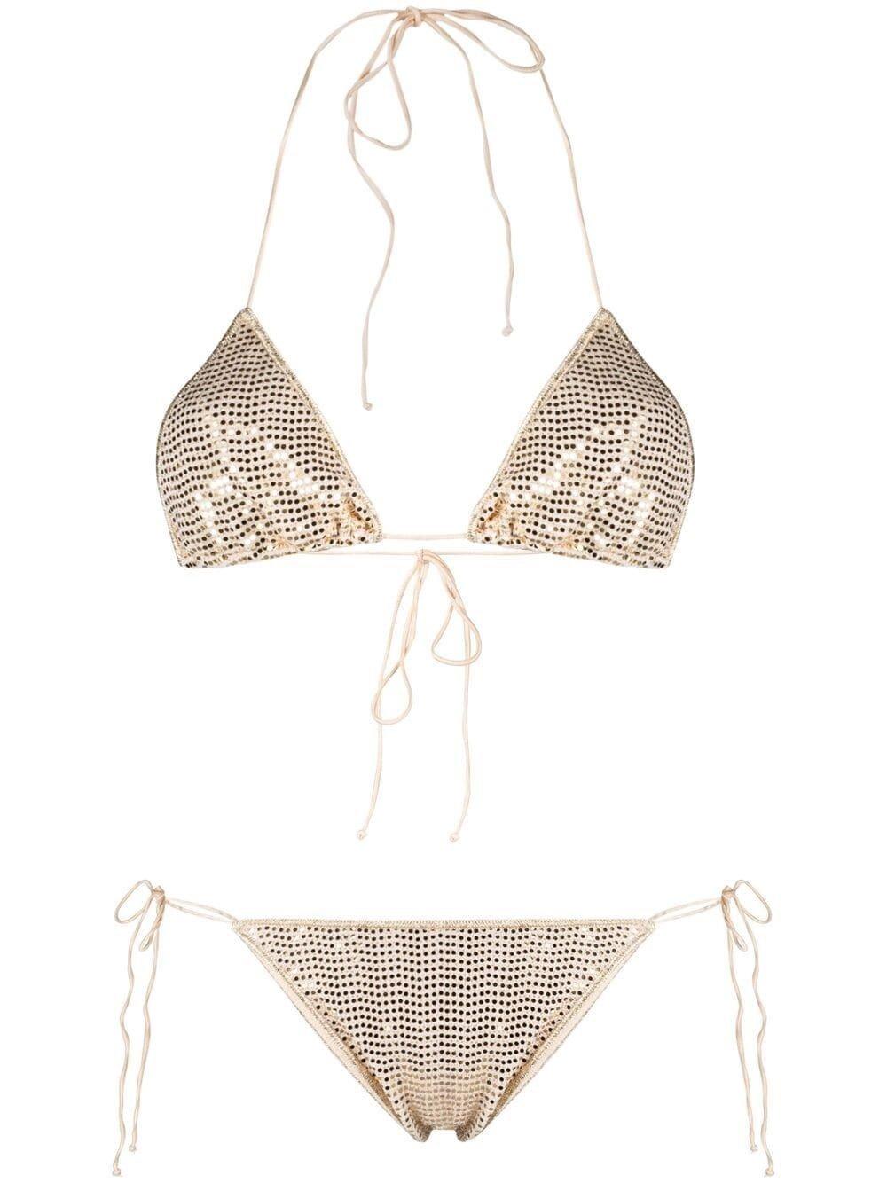 Golden Sequins Bikini