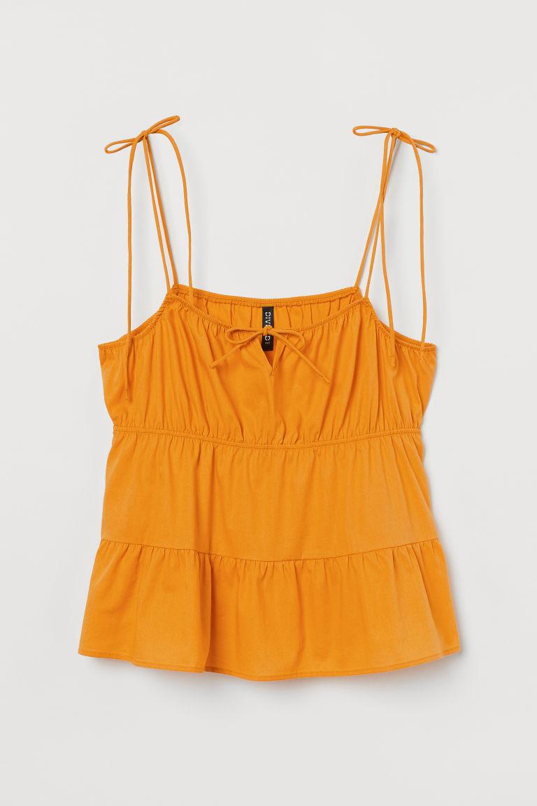 H & M - 結飾上衣 - 黃色