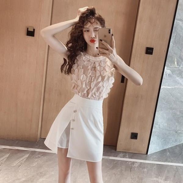 套裝兩件套~2139#夏款時尚韓版氣質egg法式桔梗兩件套套裝連衣裙女T235-D胖妞衣櫥