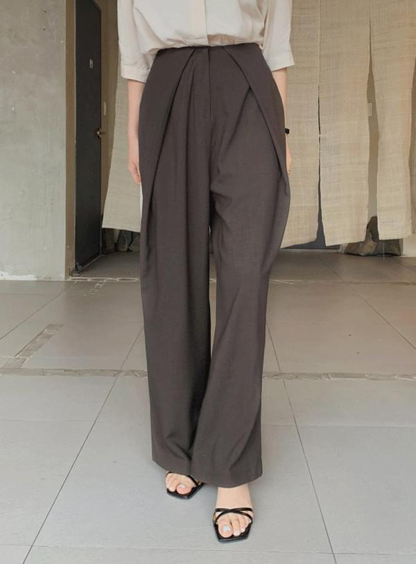 韓國空運 - Tail pintuck pants 長褲