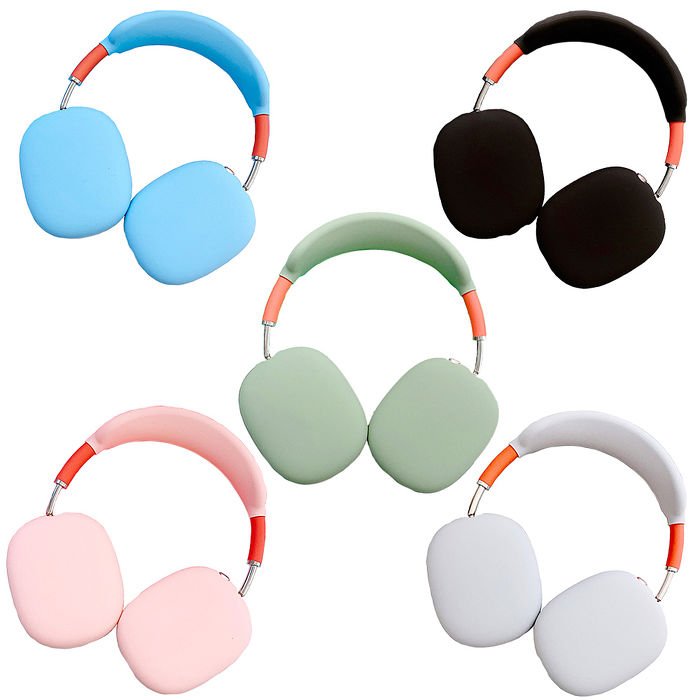 AirPods Max 頭戴耳機矽膠保護套/五色可選黑色