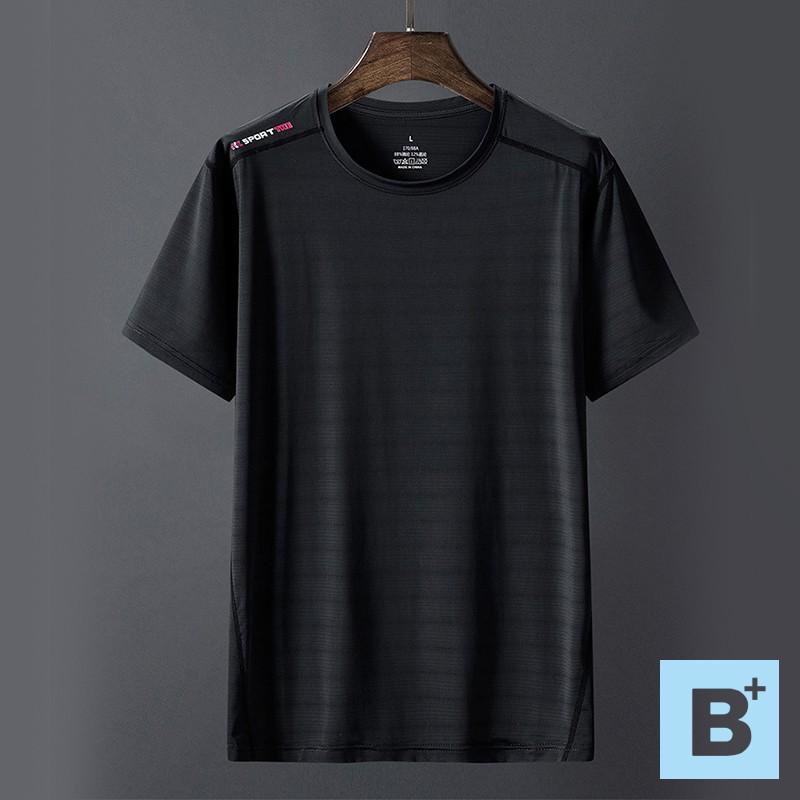 【B+大尺碼專家】涼爽冰絲圓領T恤-黑/白/深灰-0201024