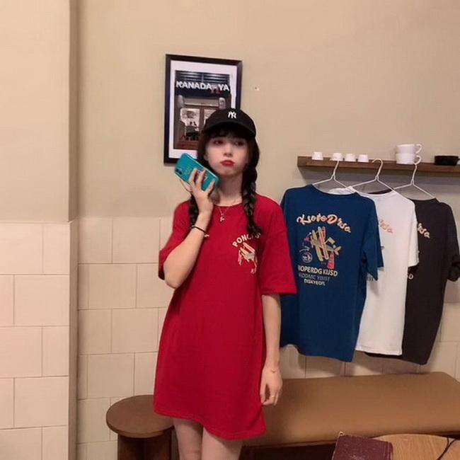 FOFU-彈性棉短袖t恤女中長版【08SG06372】