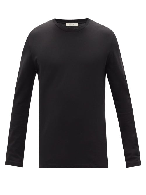 The Row - Leon Cotton-jersey Long-sleeved T-shirt - Mens - Black