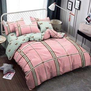 BUTTERFLY-柔絲絨三件式涼被床包組-漫戈時光(單人加大)