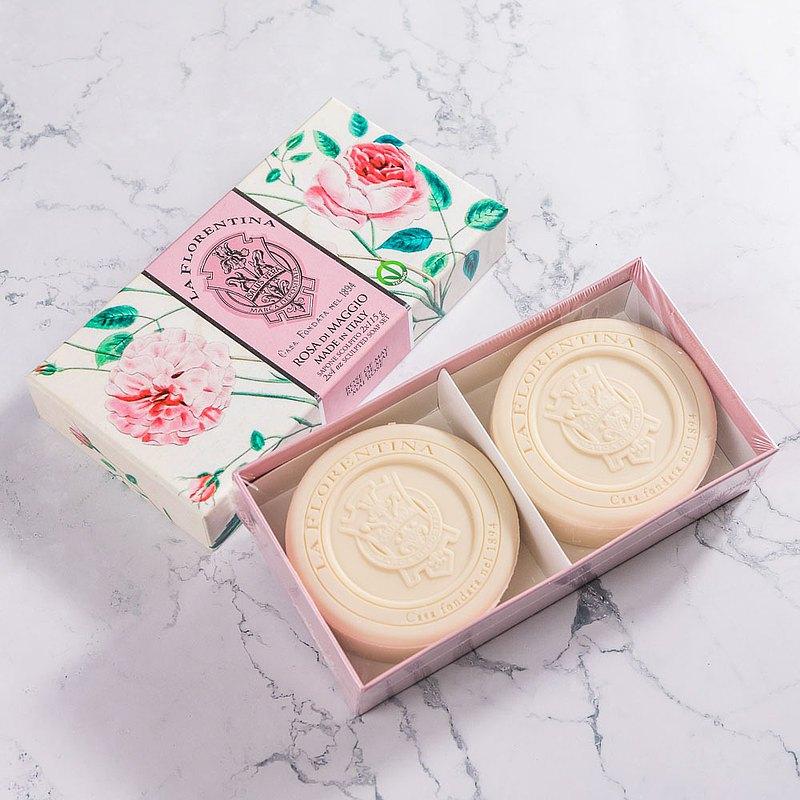 義大利手工香氛皂115g 2入禮盒組-五月玫瑰