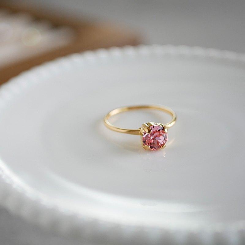 施華洛世奇水晶精緻簡約戒指