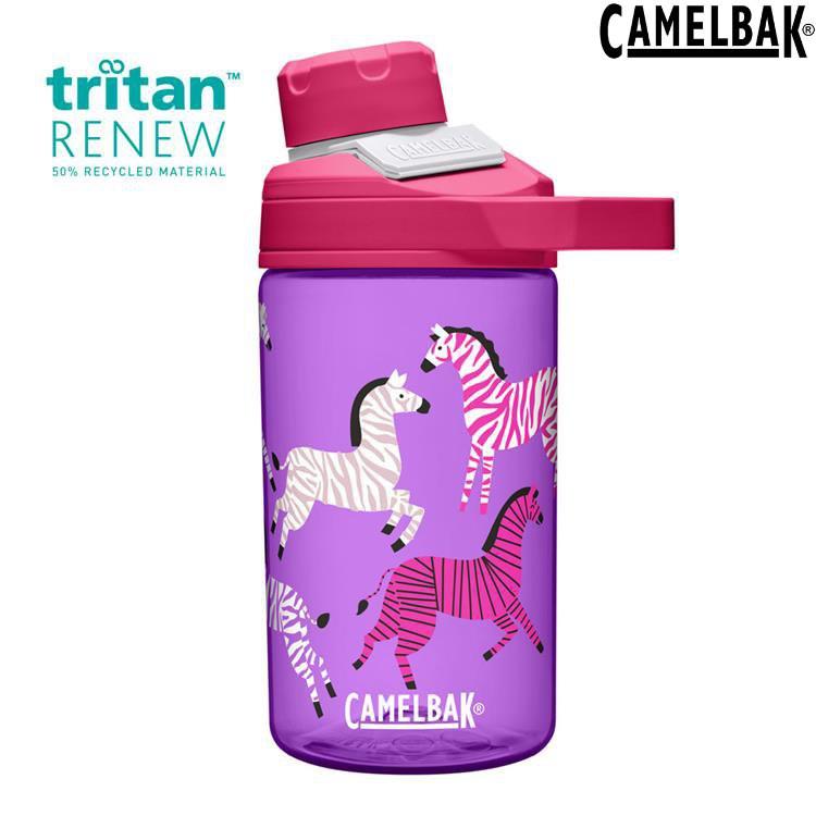 Camelbak Chute Mag Kids 兒童戶外運動水瓶400ml Renew CB2492601041炫彩斑馬