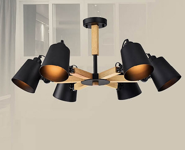 【燈王的店】風格系列 木製品 半吸頂6燈 F0363300523