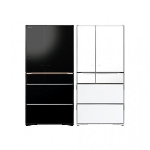 HITACHI日立PREMIUM 旗艦 RZXC740K日本製 741L 六門冰箱 琉璃黑/琉璃白