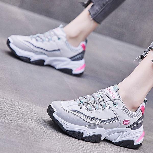 BOY2小二布屋【JPG99111】女老爹鞋 INS風韓版8數字流線顯瘦增高厚底運動鞋/現+預