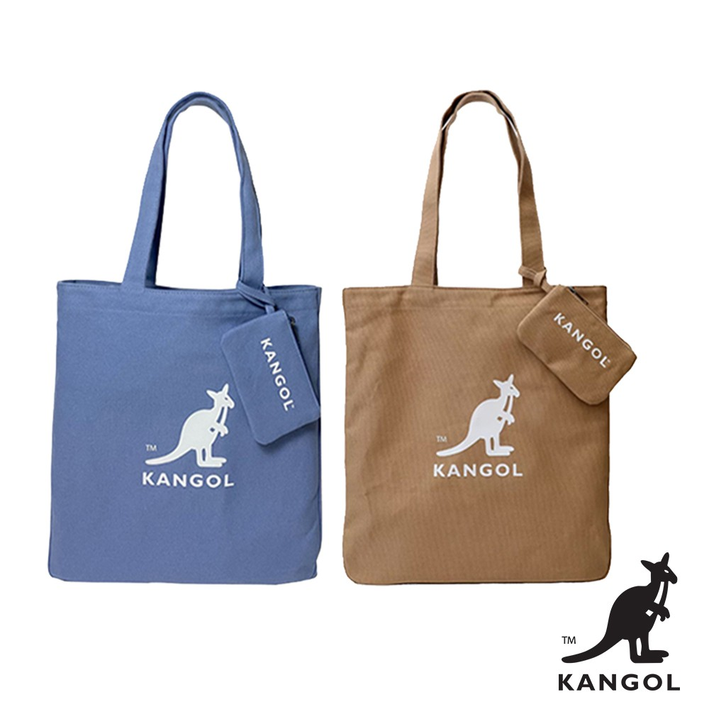 KANGOL 袋鼠- 肩背托特包附卡夾 手提包 帆布包 肩背包 KANGOL包 托特包 小包 隨身包 AAStore