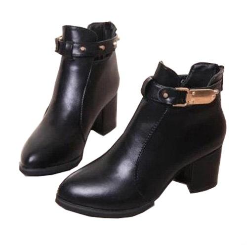 換包姐妹淘~時尚個性復古中跟鞋/馬丁靴