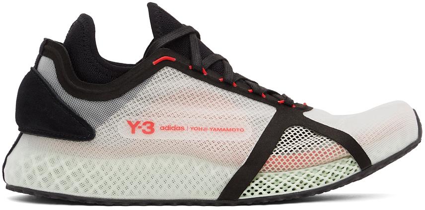 Y-3 白色 4D IOW 运动鞋