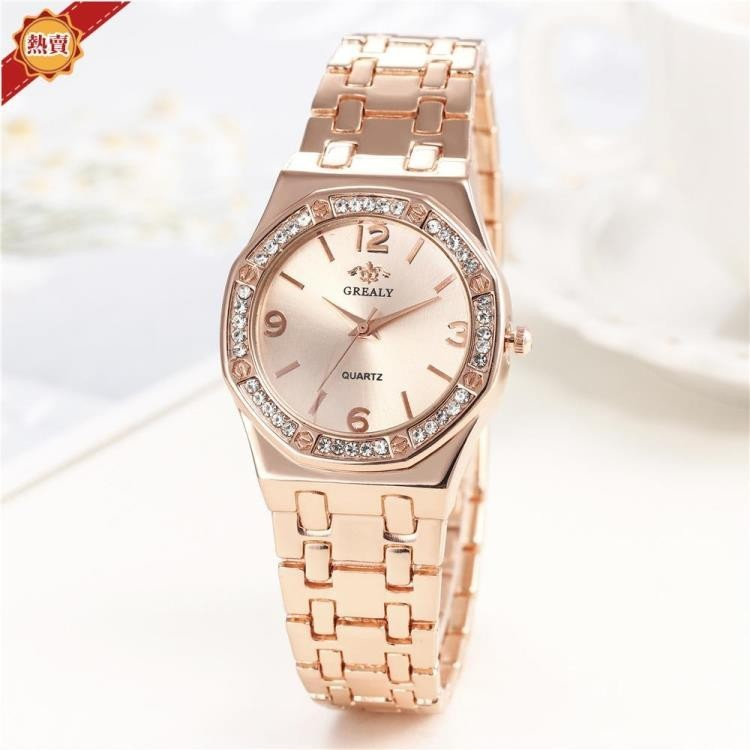 手錶 2020新款熱銷八邊形個性錶頭 奢華女士合金套裝手錶女款石英腕錶 開春特惠