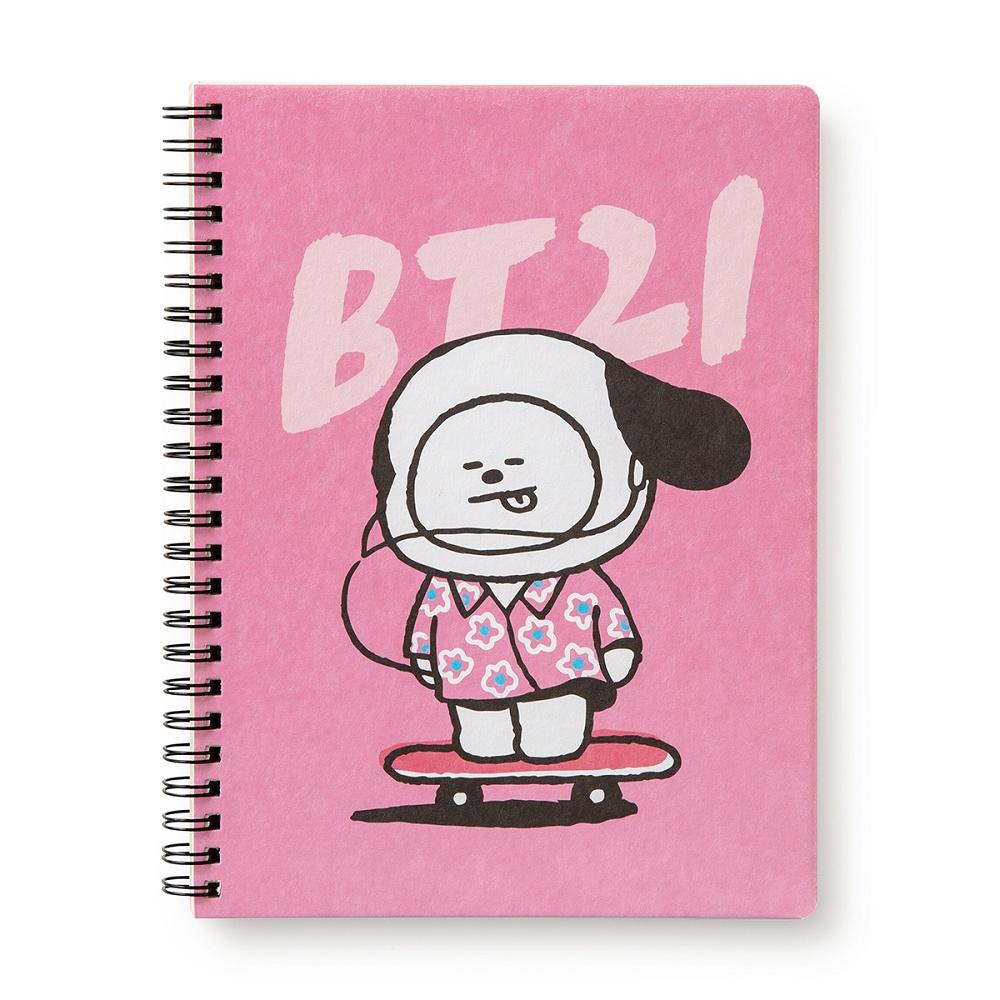 BT21 CHIMMY A5線圈筆記本(MUSIC系列)