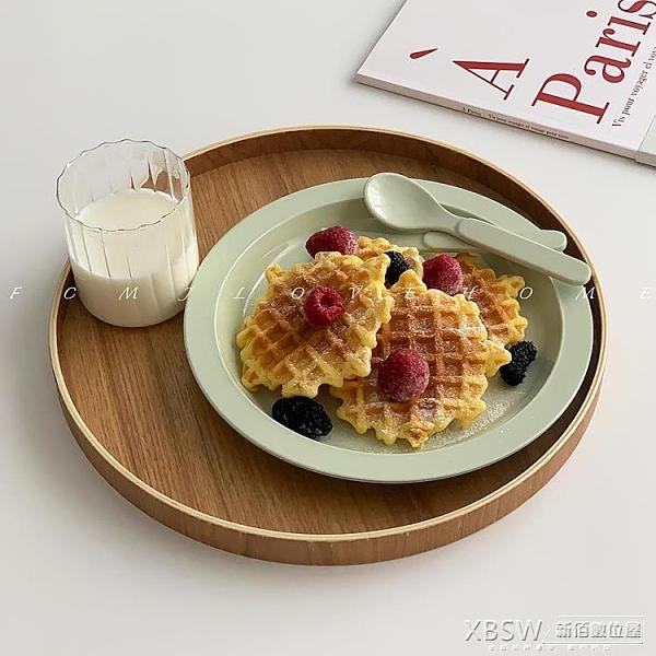 風木質圓形出餐托盤 日式木制餐盤茶盤 收納盤抖音創意 『新佰數位屋』