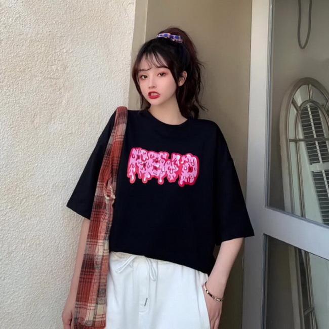 FOFU-彈性棉短袖t恤女中長版【08SG06431】