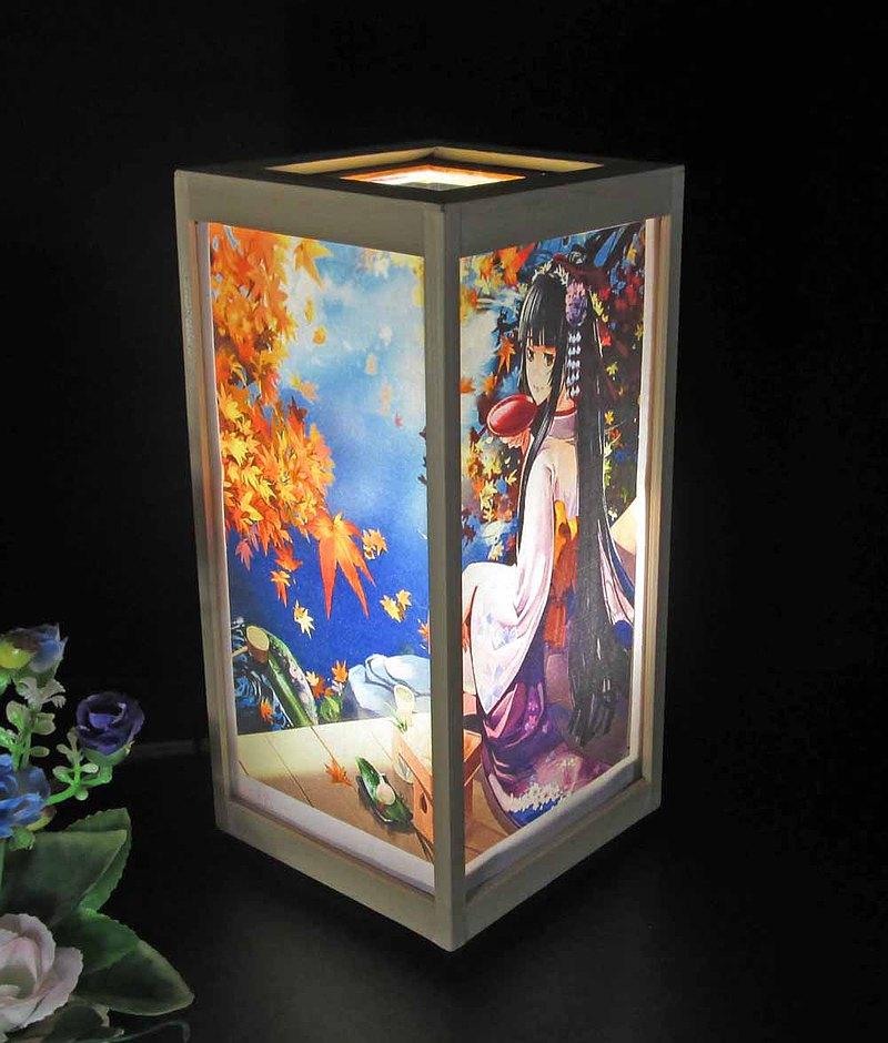 縫製的天堂般的衣服,幻想,耳蘭的耳語LED,白柏樹框架的構造,神秘的光芒的微笑!