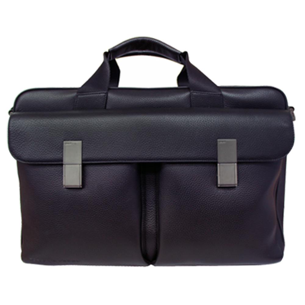 【PORSCHE DESIGN】西蒙 雙把雙前袋公事包-黑色
