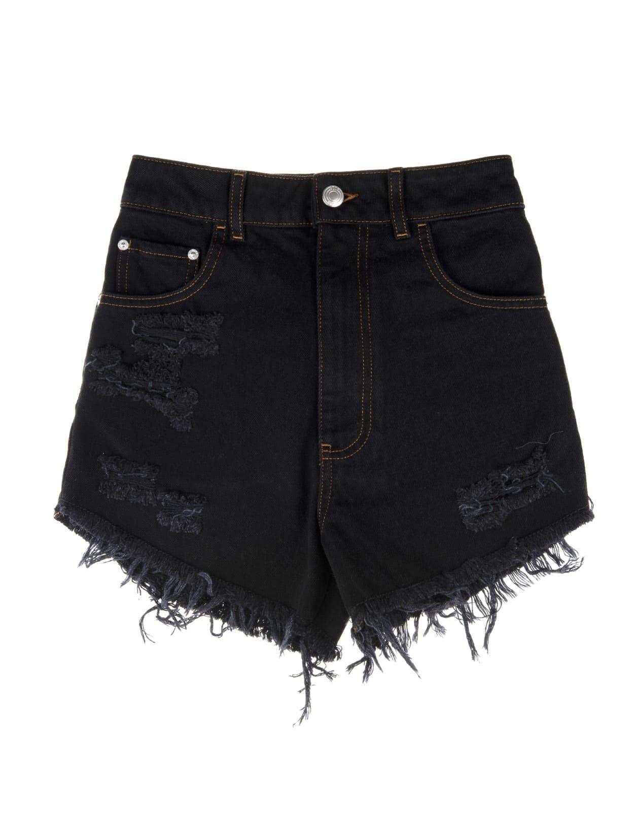 GCDS Stressed Denim Shorts