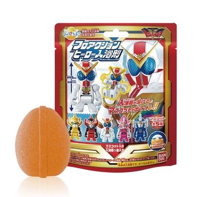 日本Bandai-機界戰隊全界者入浴球-5入(柑橘香味/附可愛公仔/泡澡/洗澡玩具/交換禮物)