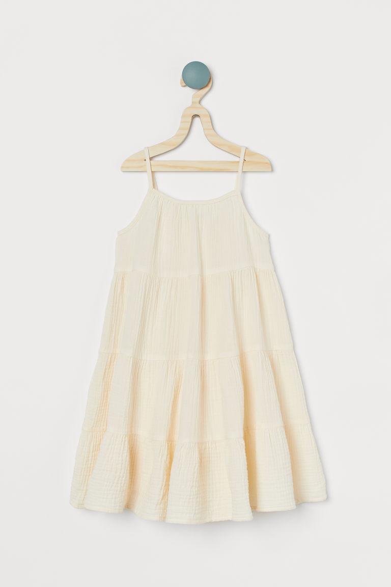 H & M - 多層次洋裝 - 白色