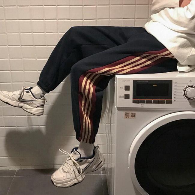 FOFU-棉運動褲女褲子顯瘦寬鬆束腳衛褲休閒韓版長褲【08SG06326】