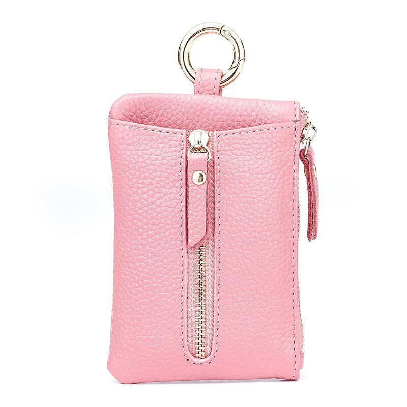 零錢包 新潮可愛頭層女鑰匙包皮質韓版腰掛零錢包男情侶款卡包