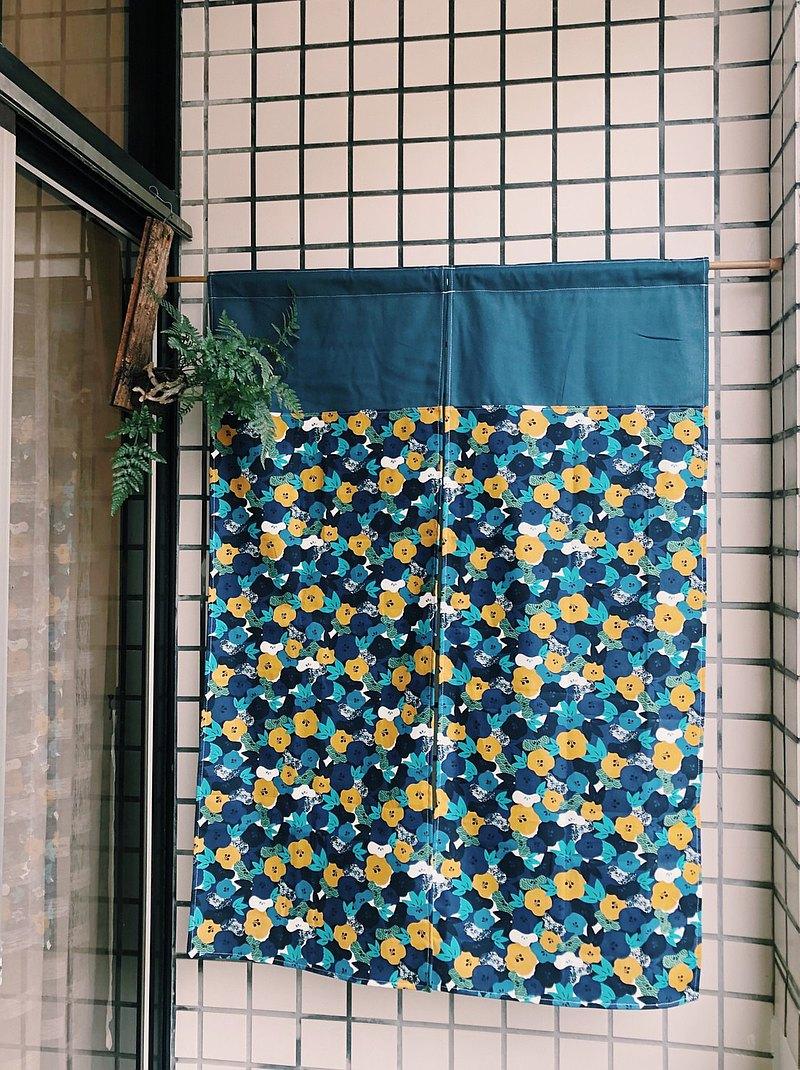 日系和風小花門簾 兩色