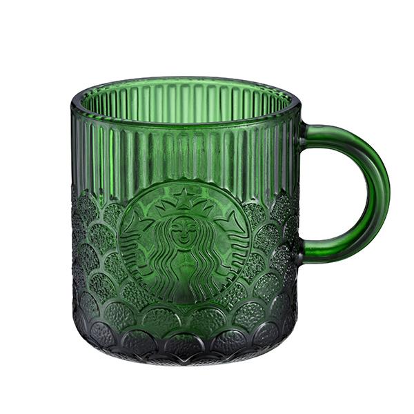 點數15%★星巴克滿額–星巴克Demi碧綠女神鱗片玻璃杯 【康是美】