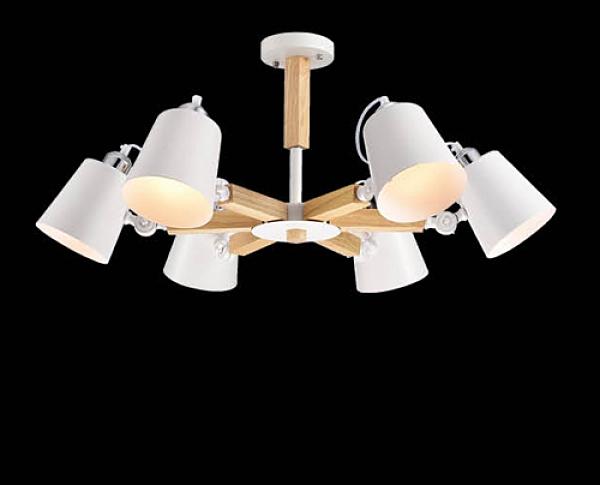 【燈王的店】風格系列 木製品 半吸頂6燈 F0363300423