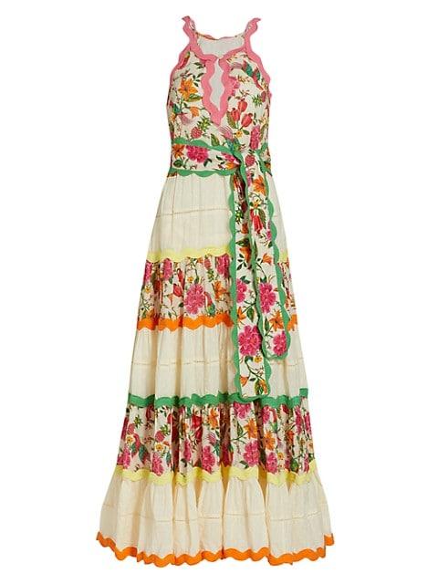 Toucan's Garden Sleeveless Maxi Dress