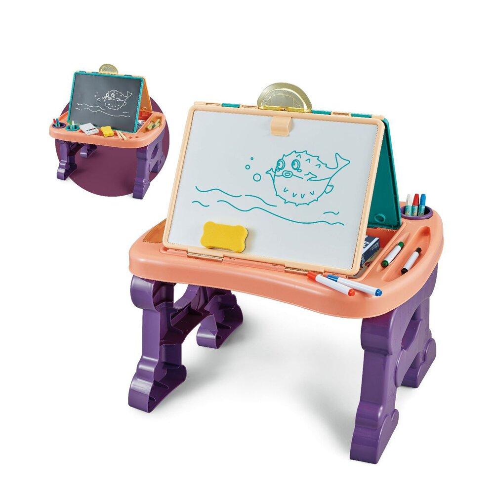 【我是乾媽】二合一繪畫板桌-珊瑚橘