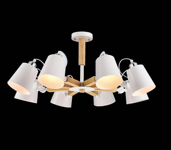 【燈王的店】風格系列 木製品 半吸頂 8 燈 F0363300412