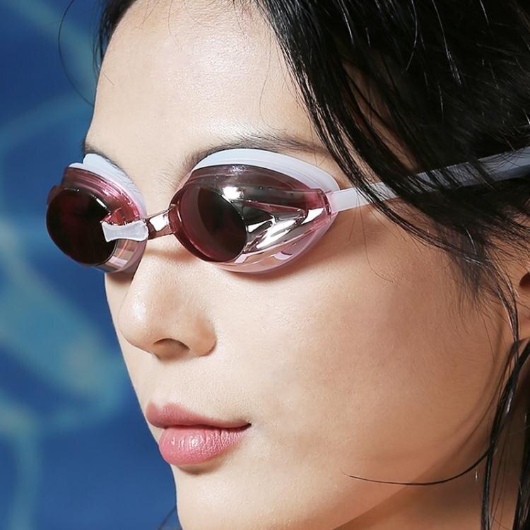專業泳鏡兒童青少年成人通用教學員高清防霧防水游泳眼鏡 四季小屋
