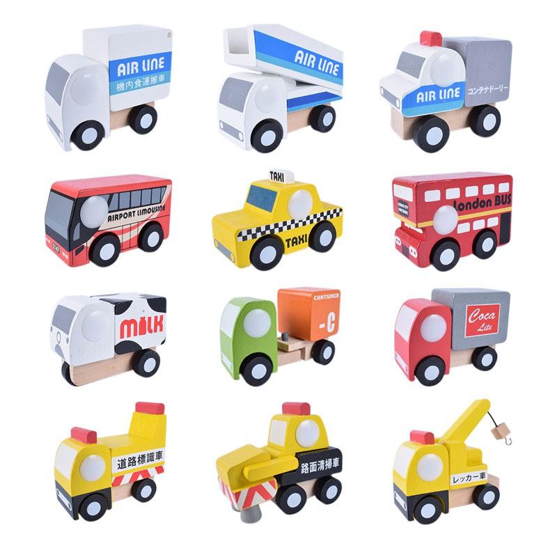 木製 可動和風小車 / 交通造型汽車 / 工藝擺設12件造型車 木質汽車 【國王皇后】