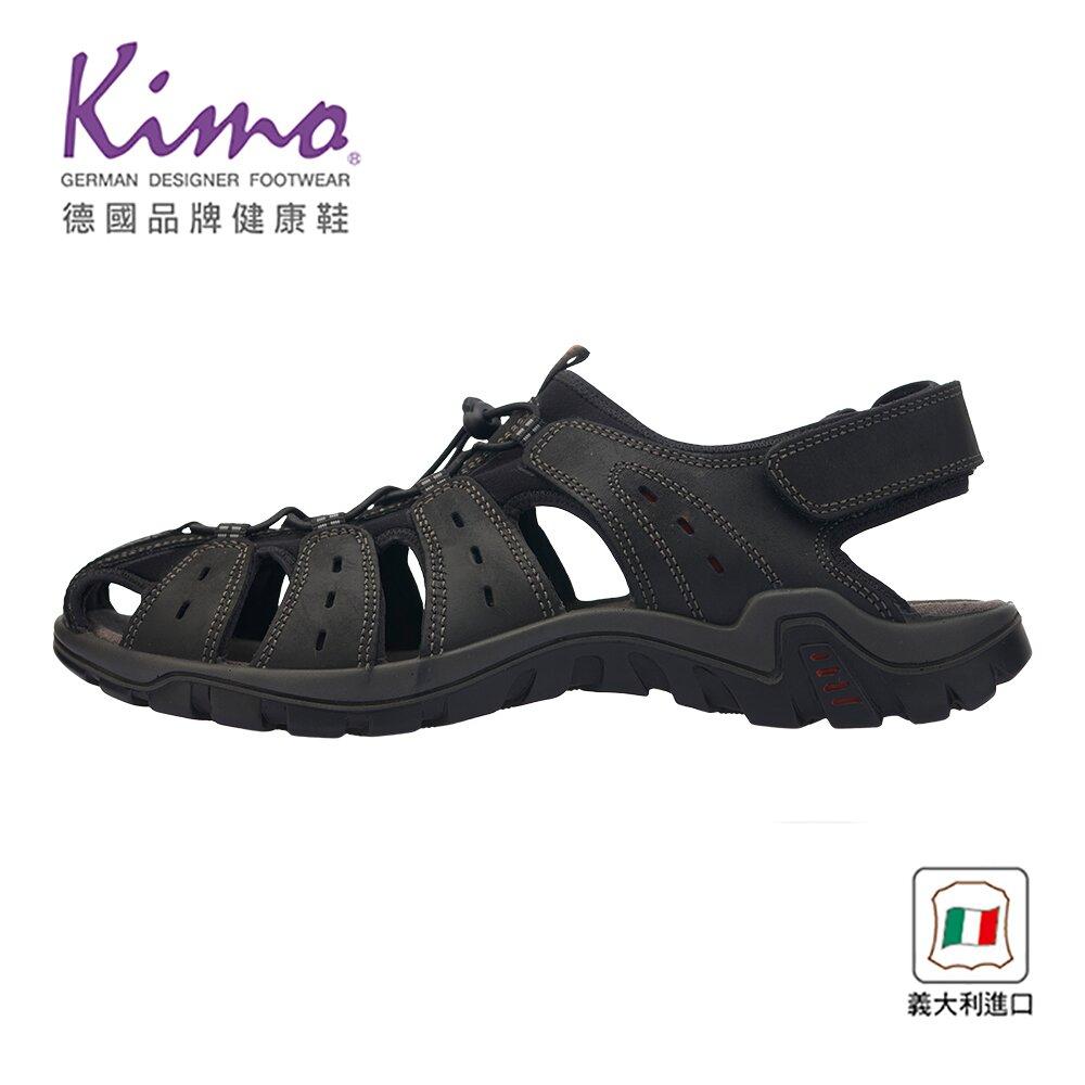 Kimo 義大利製造包頭護趾涼鞋 男鞋 (深灰 7030103400)