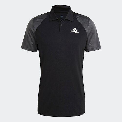 Adidas Club Polo [GL5437] 男 短袖 網球 比賽 運動 休閒 舒適 吸濕 排汗 黑灰