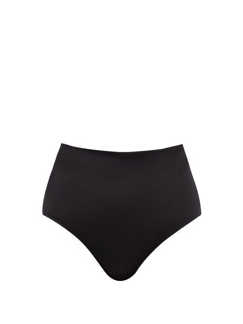 Form And Fold - The Rise High-waist Bikini Briefs - Womens - Black