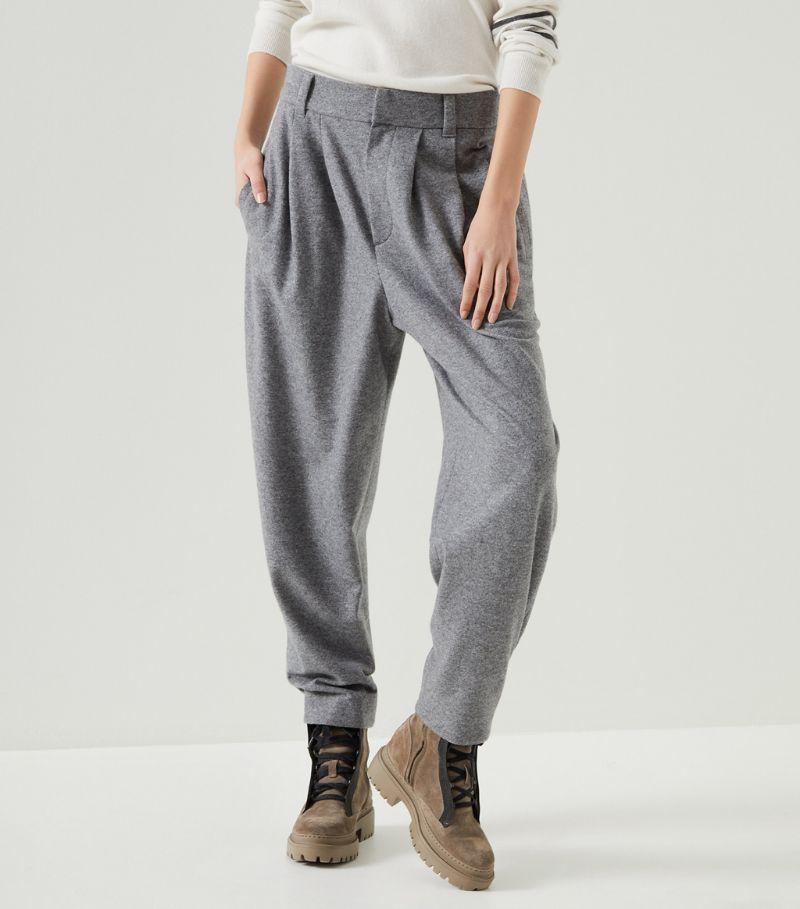 Brunello Cucinelli Cashmere Tapered Trousers
