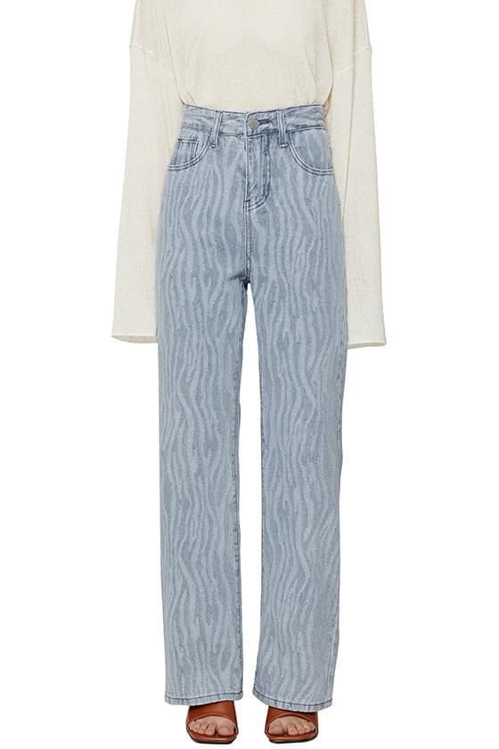 韓國空運 - Zebra straight jeans 牛仔褲