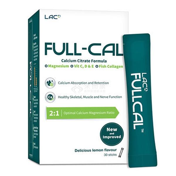 來而康 GNC健安喜 LAC Full-Cal優鎂鈣(30包/盒)