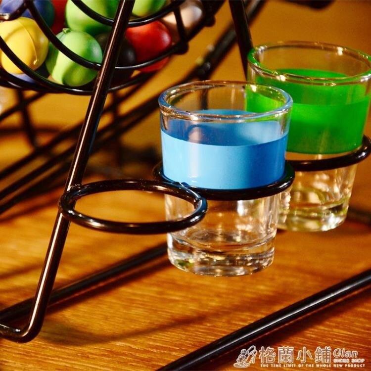 喝酒娛樂助興玩具 美式搖獎機轉盤道具喝酒游戲酒吧ktv用品用具ATF 四季小屋