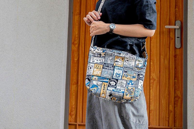 日本復古看板-厚帆布側背包